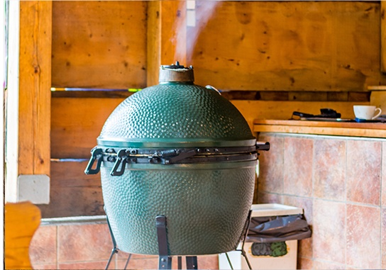 Green egg smoker