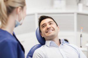 man at dental checkup
