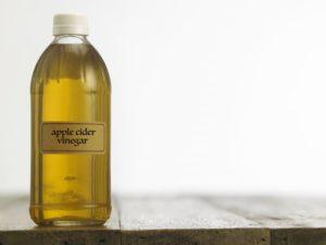 bottle of apple cider vinegar